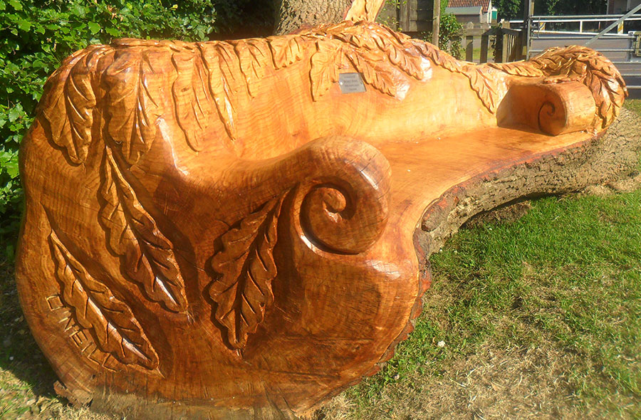 carved seat